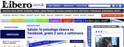 LiberoNes.it - Lo Psicologo sbarca su Facebook
