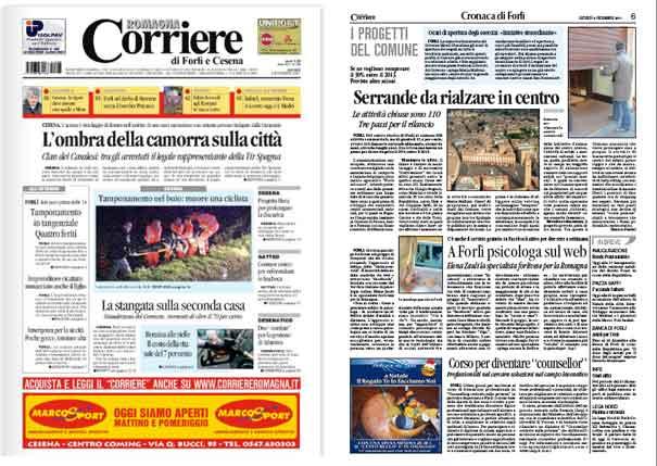 CORRIERE ROMAGNA - A Forlì Psicologa su Facebook (08/12/11)