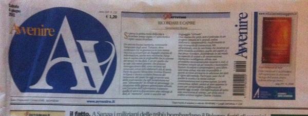 AVVENIRE – Quotidiano cartaceo Avvenire (04 giugno 2011)